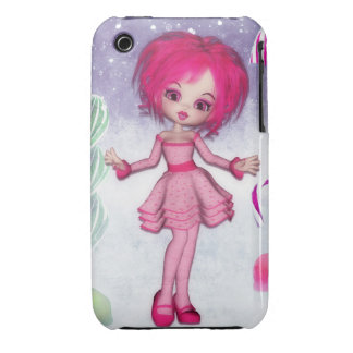 Have a Sweet Christmas :: Pink Fantasy Girl iPhone 3 Cover