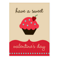 Have a sweet Valentine's day! Funny Postcard