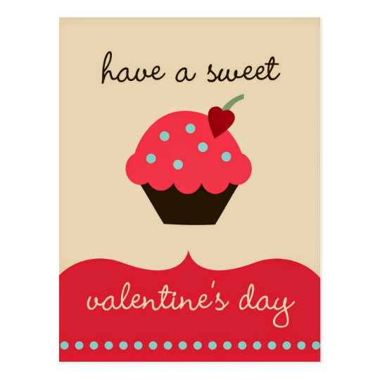 Have a sweet Valentine's day! Funny Postcard | Zazzle