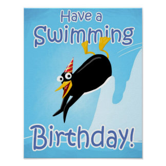 Have a Swimming Birthday Poster