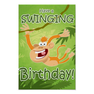 Have a Swinging Birthday poster design by StiK