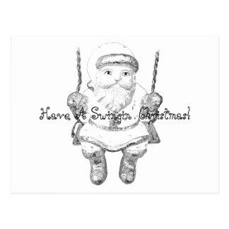 Have A Swinging Christmas Santa Claus! Postcard
