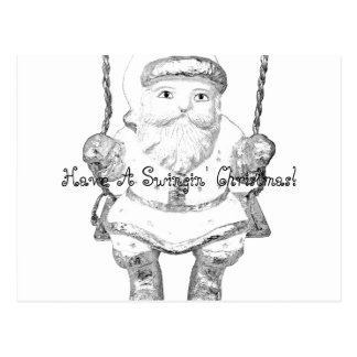 Have A Swinging Christmas Santa Claus! Postcards