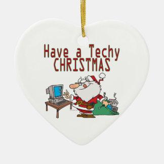 have a techy christmas computer geek santa ornaments