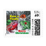 Have a Toadly Merry Christmas Postage
