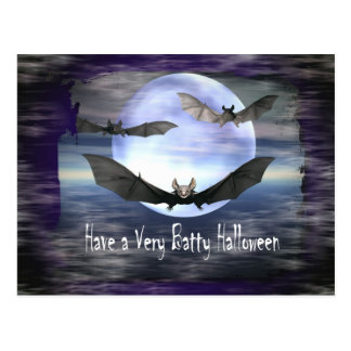 Have a Very Batty Halloween Post Card
