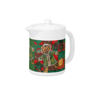 Have a Very Beary Christmas!~teddy bear Teapot