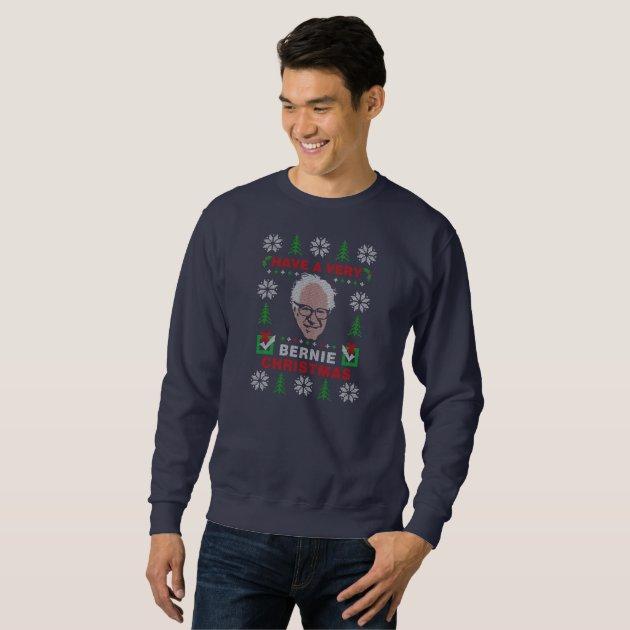 Have a Very Bernie Sanders Ugly Christmas Sweater | Zazzle.com