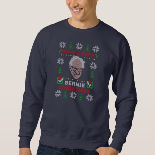Have a Very Bernie Sanders Ugly Christmas Sweater | Zazzle.com