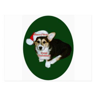 Have a Very Corgi Christmas- Gimli Postcard