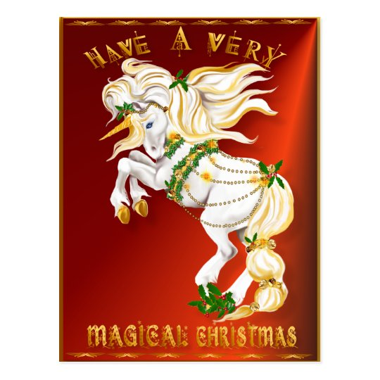 Have A Very Magical Christmas Postcard