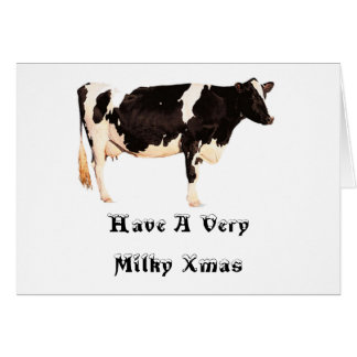 Have A Very Milky Xmas Card