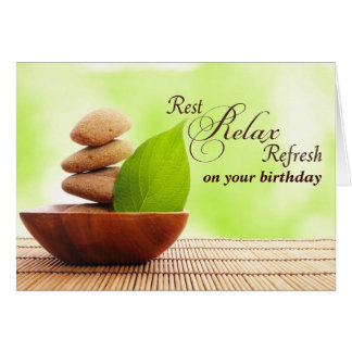 Have a Very Spa Birthday (card) Card