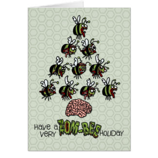 Have a very Zom-Bee Holiday Card