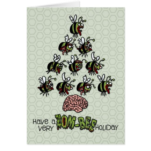 Have a very Zom-Bee Holiday Greeting Card