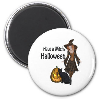 Have A Witchy Halloween Magnet