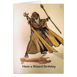 Have a Wizard Birthday card