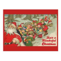 Have A Wonderful Christmas Vintage Postcard