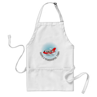 Have a wonderful trip! Airplane with passengers Adult Apron