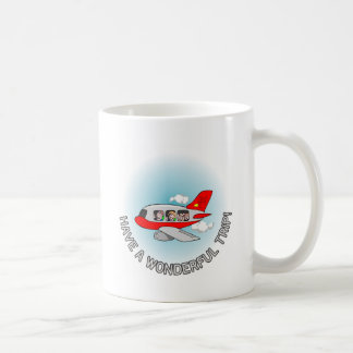 Have a wonderful trip! Airplane with passengers Mugs