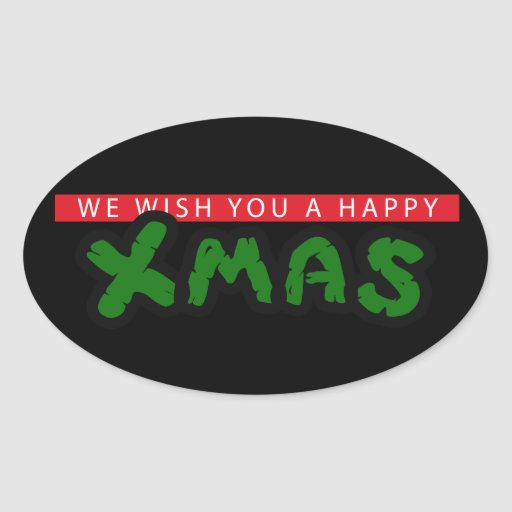 Have an 80s happy Xmas Oval Sticker
