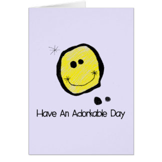 Have an adorkable day greeting card