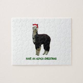 Have an alpaca Christmas Jigsaw Puzzle