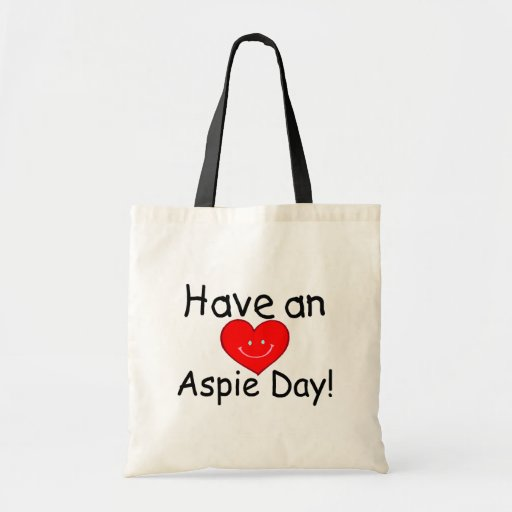Have an Aspie Day (Heart) Budget Tote Bag