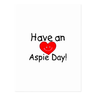 Have an Aspie Day Heart Post Cards