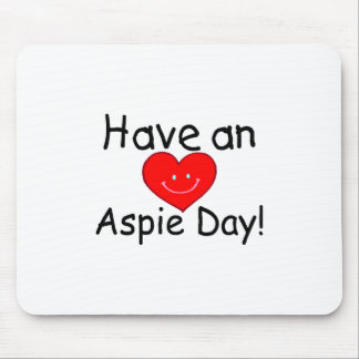 Have An Aspie Day (Smiley Hrt) Mouse Pad