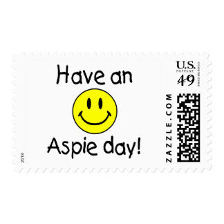 Have An Aspie Day (Smiley) Postage