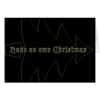 Have an emo Christmas Cards