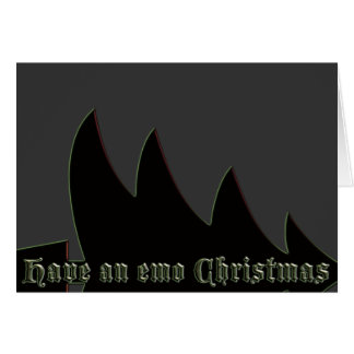 Have an emo Christmas Greeting Card