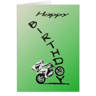 HAVE AN EVEL BIRTHDAY.green. Card