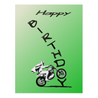 HAVE AN EVEL BIRTHDAY.green. Postcard
