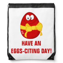 Have an Exciting Day Drawstring Bag