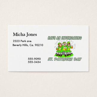 Have An Intoxicating St. Patrick's Day Business Card