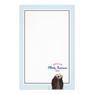 Have an Otterly Awesome Day Cute Otter Photo Stationery