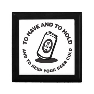 Have and Hold Beer Cold Jewelry Boxes