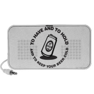 Have and Hold Beer Cold Portable Speakers