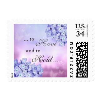 Have and to Hold Engagement Wedding Flower Stamp