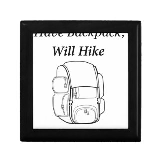 Have Backpack Will Hike Jewelry Box