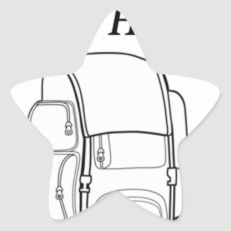 Have Backpack Will Hike Star Sticker