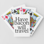 Have Bacon Will Travel Bicycle Poker Cards