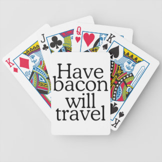 Have Bacon Will Travel Typography Bicycle Playing Cards