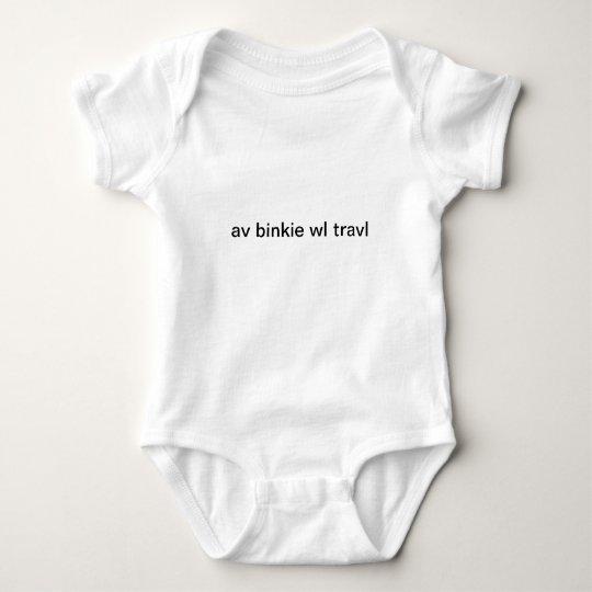 Have binkie will travel baby bodysuit