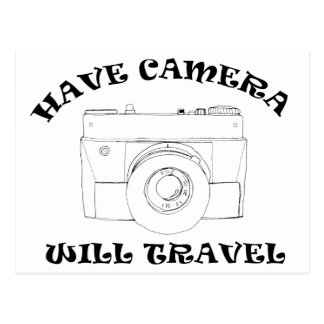Have Camera Will Travel Postcard