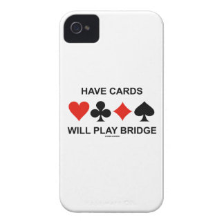 Have Cards Will Play Bridge (Four Card Suits) Case-Mate iPhone 4 Case