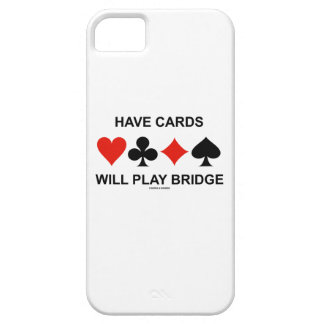 Have Cards Will Play Bridge (Four Card Suits) iPhone SE/5/5s Case