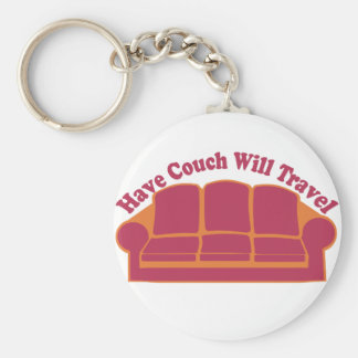 Have Couch Will Travel Basic Round Button Keychain